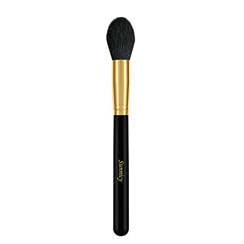 Tapered surligneur Visage Poudre Bronzer Blush Contour Alliant pinceau de maquillage, Tapered Point à Highlight yeux et Brow os; Fonctionne avec les crèmes, les poudres et les minéraux
