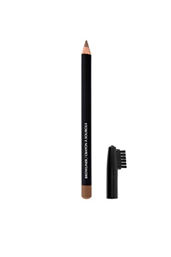 Crayon pour sourcils professionnel pour un look parfait, couvercle avait brosse, couleur blonde