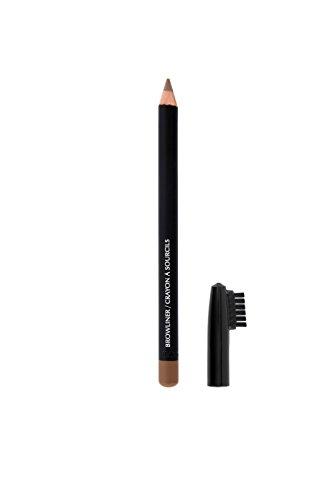 Profi Make-Up Augenbrauenstift für den perfekten Augenbrauen Look, Deckel mit Bürste, Farbe blond