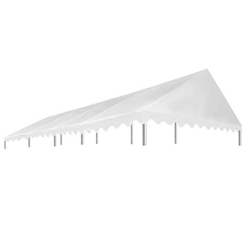 Festnight- Tetto per Tendostruttura, Telo di Ricambio per Gazebo 4 x 8 m Bianco 450 g/m²