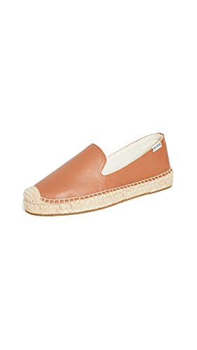 Soludos Platform Smoking Slipper Tan