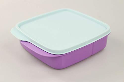 Tupperware to Go Lunchbox Clevere Pause 550 ml lila hellblau mit Trennwand 36167