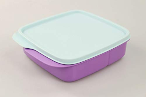 Tupperware to Go Lunchbox Clevere Pause 550 ml lila hellblau mit Trennwand 36347