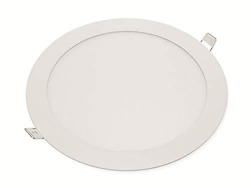 LED-Einbauleuchte OPTONICA 2608 18 W, 1500 lm, 6000K, rund, 95 RA, weiß