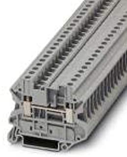 UT 4-MTD BK, Feed-Through Terminal Block, Connection Method: Screw Connection, Number of Connections: 2, Number of Positions: 1, Cross (25 Items)