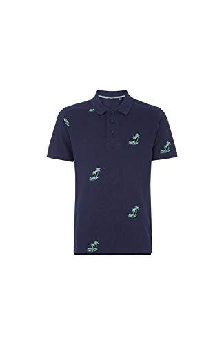 O'NEILL LM Palm AOP Polo Manches Courtes pour Homme S Bleu (Blue AOP)