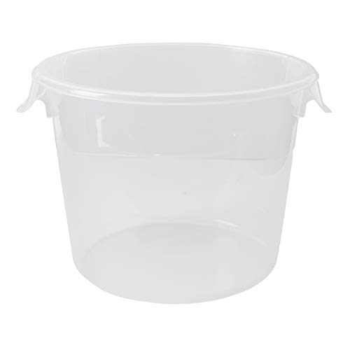 Rubbermaid Commercial Products Plastic Round Food Storage Container for Kitchen/Food Prep/Storing 6 Quart Clear Container Only FG572324CLR