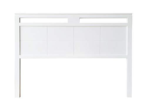 cabecero Siena Fabricado en Madera Maciza de Pino insigni Acabado en Blanco (para Cama de 180 (190 x 120 cm), Doble Hueco)