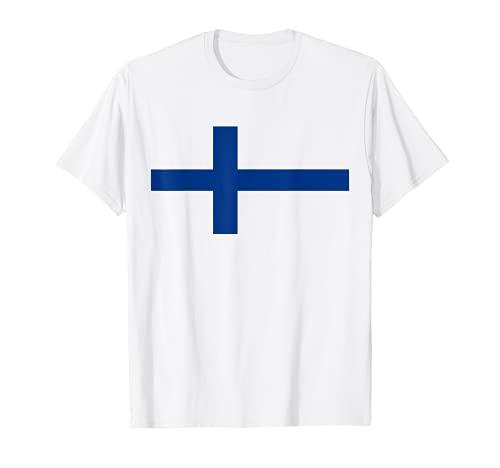 Finnland Flagge Cooles Finnische Suomi Flaggen T-Shirt
