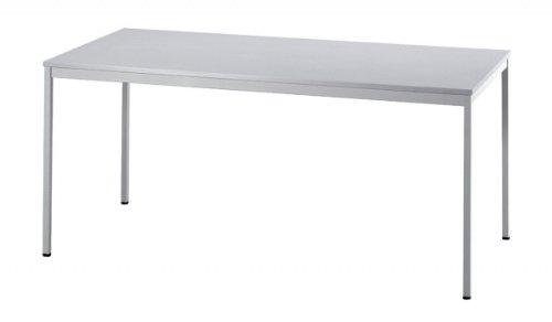 Unbekannt Konferenztisch mit Vierkant-Rohr Vektor 160 x 80cm Grau/Grau