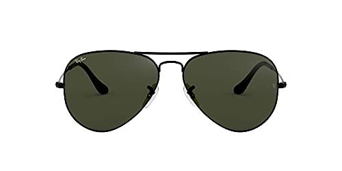 Ray-Ban Aviator Large Metal 0RB3025 - Gafas de Sol, Negro/Verde Clásico