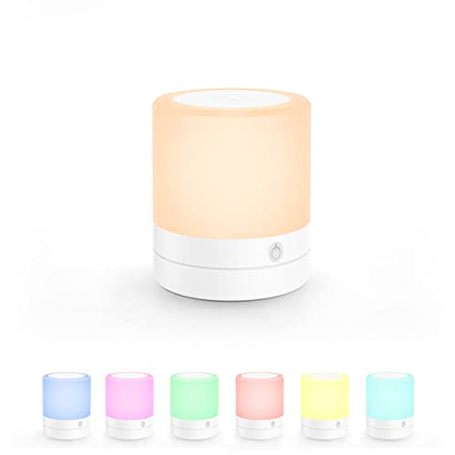 Night Light for Kids, LESHP LED Lamp with Touch Control Multiple Colors and Brightness, 1200mAh Battery, Dimmable Nursery Light for Breastfeeding, Sleeping, Relaxing.