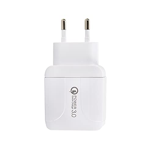 HUSL Cargador Móvil Rápido QC3.0, 2.1A 5V Universal 3 USB Puertos Corriente Enchufe Movil de Pared Adaptador para Phone 11 X XS/XS MAX XR 8 7 6 6S Plus SE 2020 5S, Samsung S9 S8 S7, Android