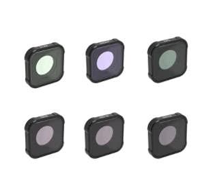 tyui Filtro, protección submarina Caja de Buceo Shell, Adecuado para GOPRO Hero9 Black Handheld Protection Protection Lens Fisheye CPL UV ND Starlight 15 Veces