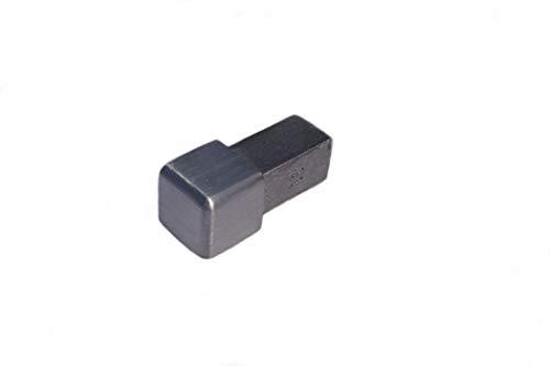 Ecke für Q-Fliesenschiene Edelstahl 10 mm, Edelstahlschiene, V2A, gebürstet