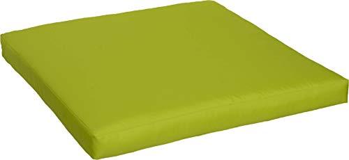 Beo Beo LKP 70x70PY203 Loungekissen Sofakissen Palettenkissen mit Reissverschluss und wasserabweisendem Stoff, hellgrün, 70 x 70 cm