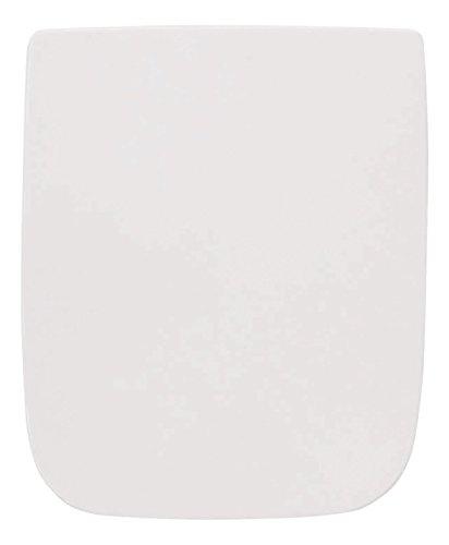 WC-Sitz passend zu Renova Nr. 1 Plan   Keramag   Weiß   Toilettensitz   WC-Brille aus Duroplast-Kunststoff   Soft-Close-Absenkautomatik   Edelstahl-Scharnier