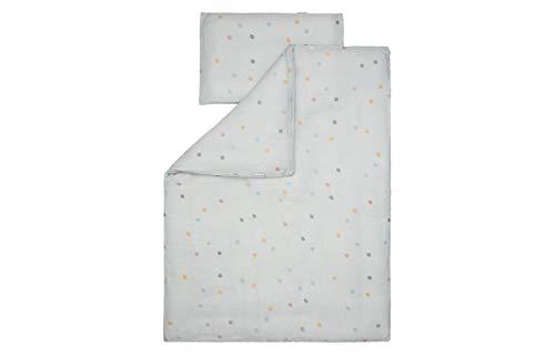 Kindsgut Musselin Bettwäsche aus 100% OEKO-TEX zertifizierter Baumwolle für Babys und Klein-Kinder, 135 x 100 cm, kuschelig weich für das Baby- und Kinder-Bett, Reinigung bei 40 Grad, Punkte