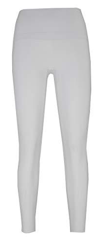 Private Island Women Plus Size UPF 50+ Long Pants Swim Rash Guard (M, White_ptw)