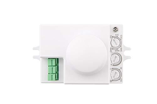 HUBER Motion 55HF, bewegingsmelder 360 °, wit, inbouw, energiezuinig