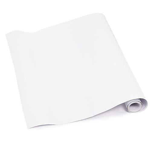 Yaheetech PVC Küchenfolie Klebefolie Selbstklebend Möbelfolie Wandfolie Türfolie Dekorfolie Schrankfolie 5m Weiß