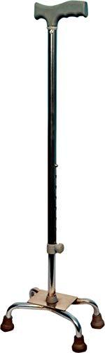 Physiqo Iron 4 Leg Walking Stick (Silver)