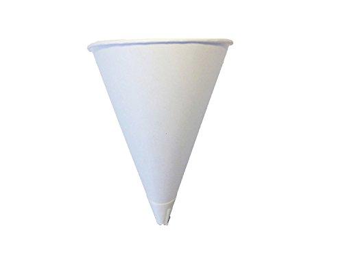 Solo Bare 4 oz. Recyclable Paper Cone Water Cup, Rolled Rim 400ct. 4R-2050 {Vasos de Agua con Forma de Cono} (2 Boxes (400ct))