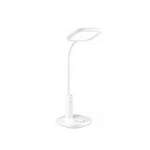Lámpara de Escritorio LED Lámpara Flexible de Escritorio de atenuación Ligera con Adaptador para el Estudio de la Oficina de Estudio (Color : White)