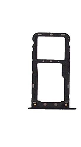 Para Xiaomi Redmi 5 Plus (SCHERMO 5.99) Soporte adaptador ranura para tarjeta SIM TRAY Carro porta tarjeta bandeja + Micro SIM negro