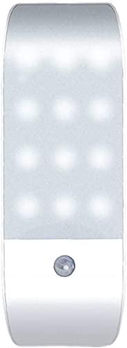 Ghongrm Paquete de 2 Luces nocturnas del Sensor de Movimiento USB Recargable de la Noche de la luz de la luz de la luz de la batería para los niños escaleras del Pasillo (luz cálida)