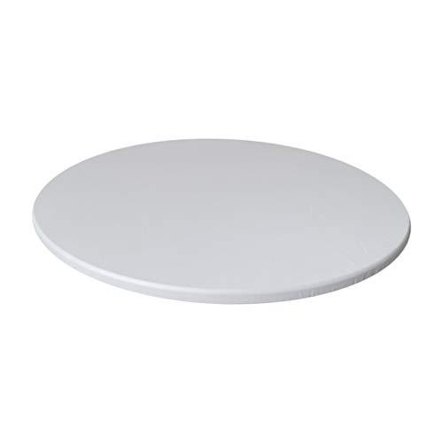 Baoblaze Tovaglia Rotonda Aderente tovaglia in Poliestere Impermeabile per Banchetti di Catering, Pulire - Bianco