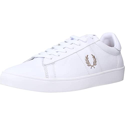 Fred Perry Spencer Leather Zapatillas Moda Hombres Blanco - 42 - Zapatillas Bajas Shoes