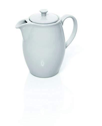 Kaffeekanne aus Porzellan, mit Deckel, 1,95 Liter Inhalt, 3 Verschiedene Größen, Premium Gastronomie-Qualität