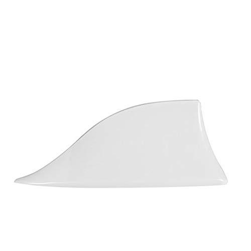 Aleta de tiburón de Coche Antena de Coche de Aleta de tiburón, Antena antiestática del Coches, Antena de Carro de Pintura ABS, Tipo Paste, fácil de Instalar (Blanco)