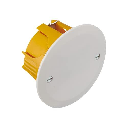 Debflex 718630 Electrique Etanche Exterieur-Boite De Derivation EncastreeBoite 1 Poste Multimateriaux Diam 85X40-Debflex-718778, Orange