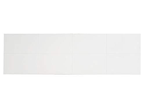 PEJECAR Cabecero de Cama de Madera Creta Color Blanco para Pared. Cabecero de Tablero a Cuadros. Estilo Vintage (para Cama de 135 (145 x 45 cms), Blanco)