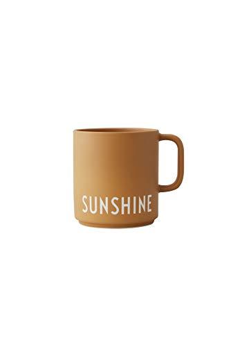 Design Letters Lieblingsbecher Senffarben SUNSHINE| Tasse Personalisiert | Personalisierte Geschenke für Freund | Becher mit Spruch | Kaffeebecher/Kaffeetassen in Porzellan mit Buchstaben