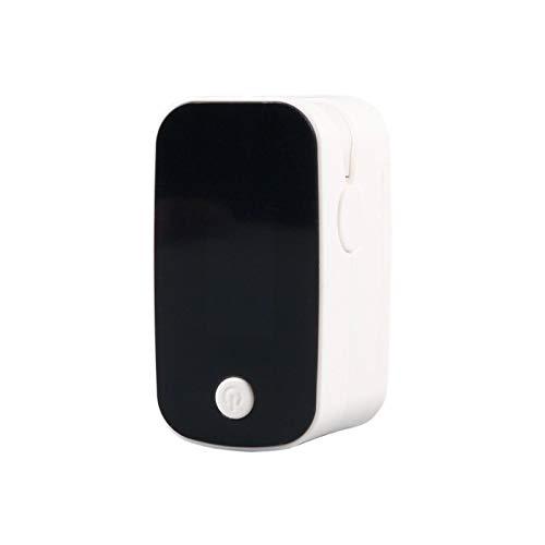 Fingerspitze Sauerstoffsättigungsmonitor Pulsoximeter Herzfrequenzmesser Fingerclip Pulsoximeter mit großem Bildschirm Blutsauerstoff Weiß
