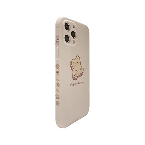SADDPA DSMYYXGS Funda De Teléfono Móvil De Oso De Dibujos Animados Lateral For iPhone 11 13 Pro MAX XS MAX 12 XR XS 7 8 Plus 7plus Tapa Suave Todo Incluido (Color : A, Material : iPhone 8 Plus)