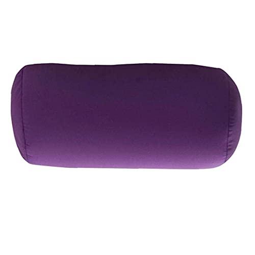 Canjerusof, almohada de cuello alto, cilindro, microperlas, pilar, espuma acolchada, refuerza, almohada para el cabello de Color sólido, púrpura para viajes de oficina