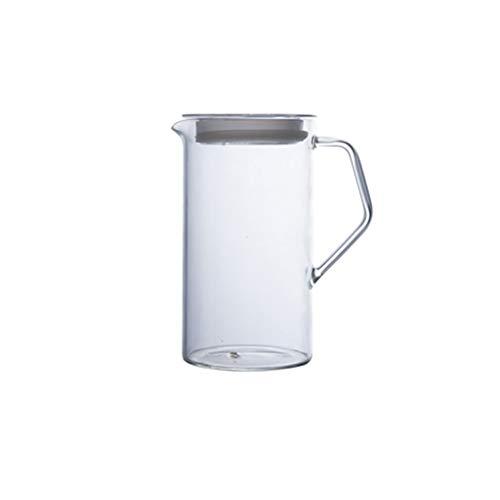 CXJJ Botellas de Agua con Tiempos de Bebida La Jarra de Vidrio con Tapa y caño - Jarra de Alta Resistencia al Calor de Agua fría/Caliente y té Helado Home Restaurant Hotel (Size : B)