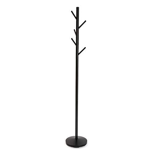 Versa Adelisa Perchero, Metal, Negro, 28,5x28,5x170 cm