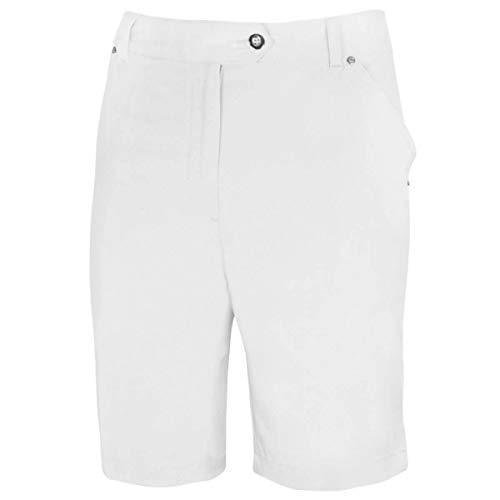 Island Green Golf IGLSHO1681SS Damen Comfort Fit Stretch Golf Sports Bermuda 12 weiß