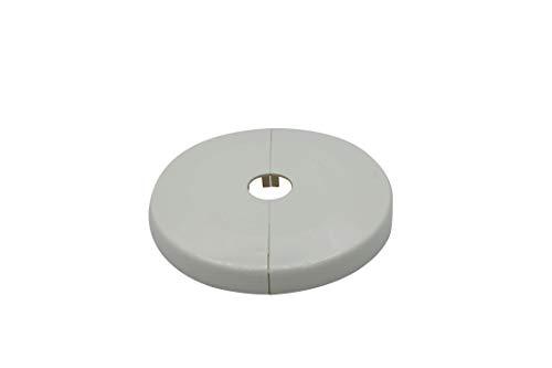 2 Piezas de rosetones para tubos de calefacción, diámetro exterior: 85mm, para...