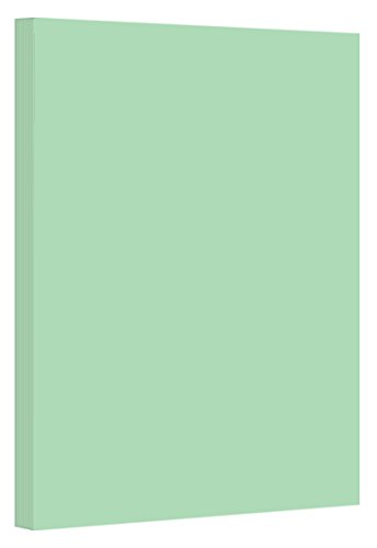 Green Pastel Color Card Stock Paper, 67lb Cover Medium Weight Cardstock, for Arts & Crafts, Coloring, Announcements, Stationary Printing at School, Office, Home | 8.5 x 11 | 50 Sheets Per Pack