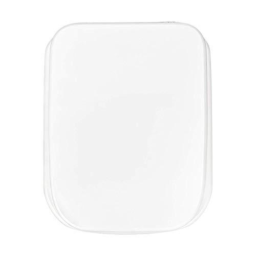 Sedile WC Universale in MDF Legno di Alta Qualità, Tavoletta Copriwater con Cerniere in Metallo e Tanti Motivi Colorati per il Bagno, Trendy Line (Rettangolare)