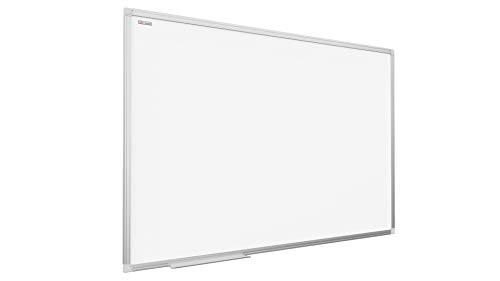 ALLboards Whiteboard mit Aluminium Rahmen 120x80cm TSC7, Magnettafel Weiß Magnetisch, Trocken Abwischbar