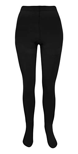 THERMO Strumpfhosen für Damen 3er Pack in schwarz soft & warm mit Innenfleece Winter-Strumpfhose (L-XXL = 40-44)