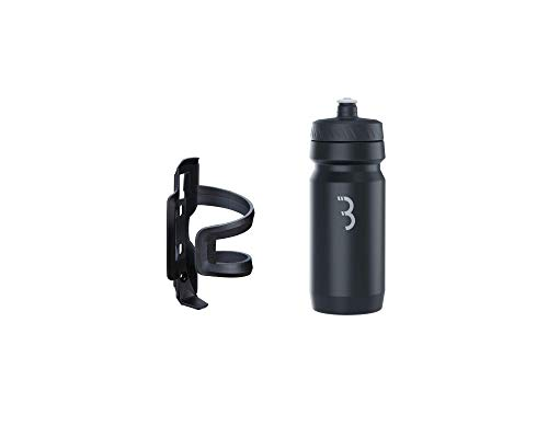 BBB Cycling Flaschenhalter Fahrrad Combo Fueltank Wasserflasche BBC-40C, Schwarz-Dunkelgrau / Schwarz Weiss, 550 ml