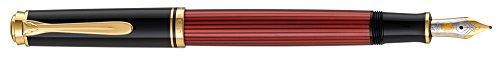 Pelikan Fine-Writing Pelikan 925131 Kolbenfüllhalter Souverän M400 Schwarz/Rot, Feder EF